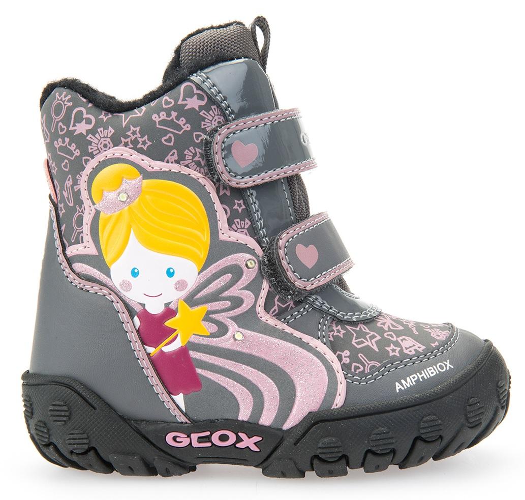 f73ea84168 Geox Dievčenské zateplené svietiace členkové topánky B Gulp B Girl Abx -  šedé