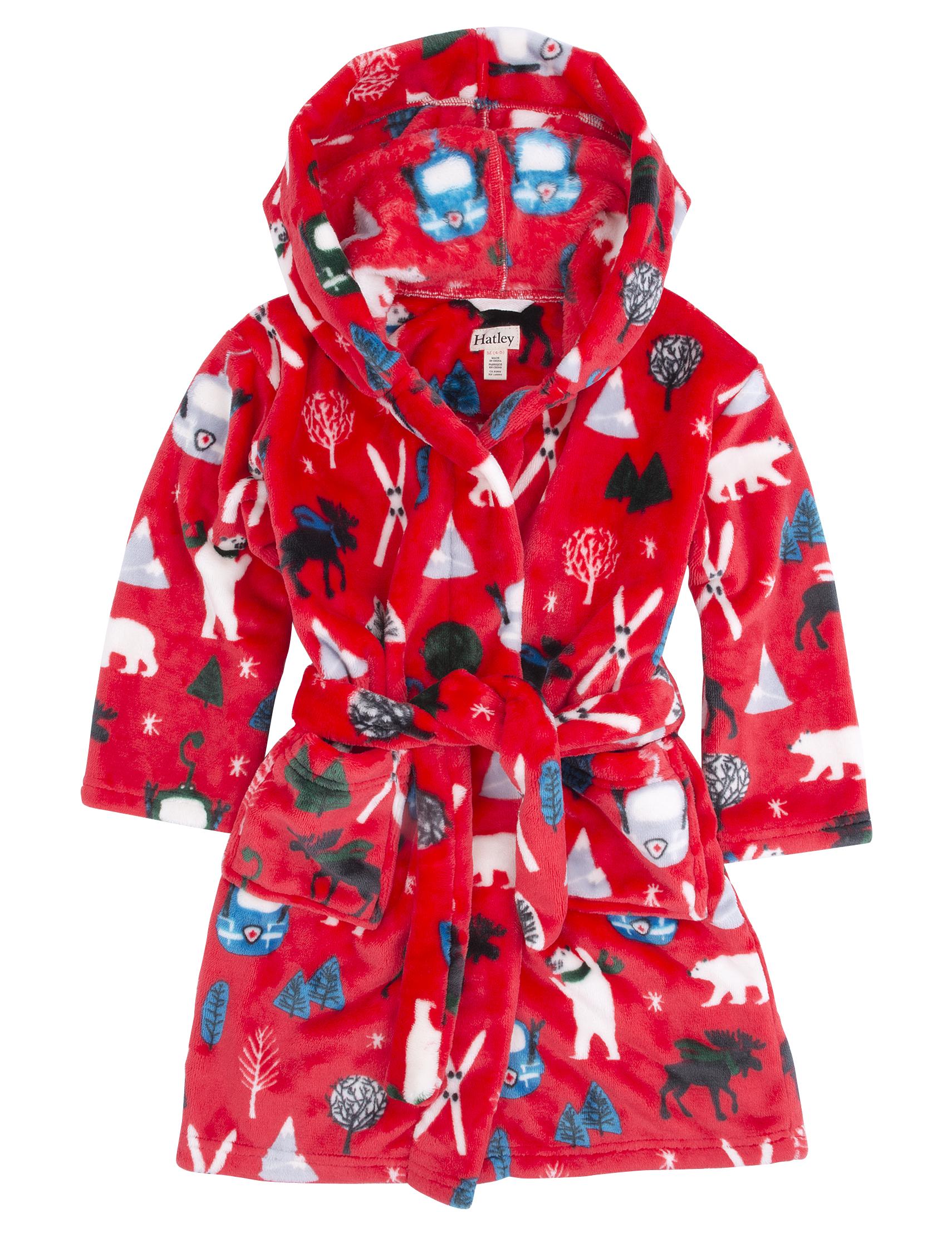 98fd8832eb17 Hatley Detský župan so zimnými motívmi - červený