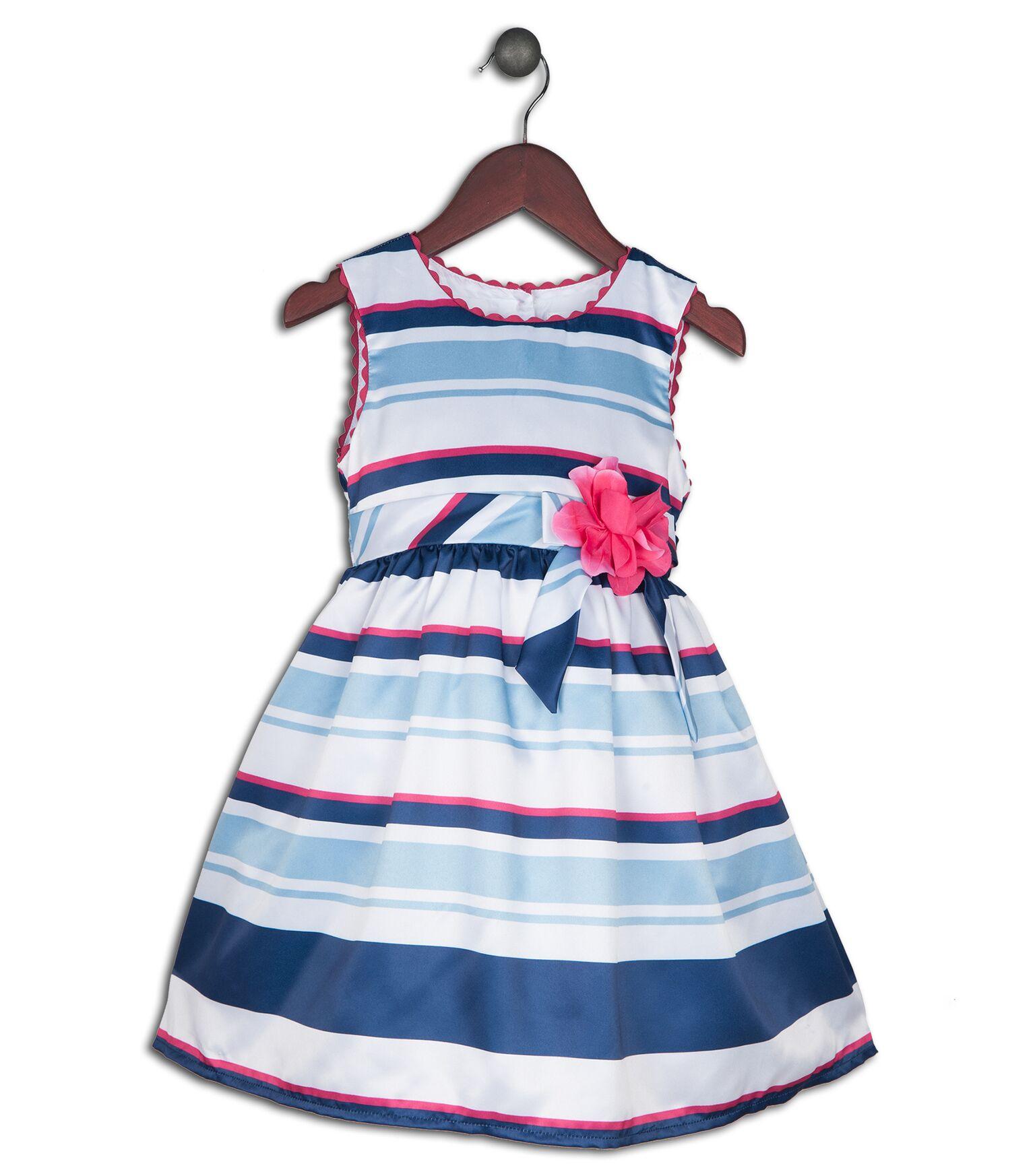 Joe and Ella Fashion Dievčenské šaty Alyson pruhované - modro-biele ... 05566a28811