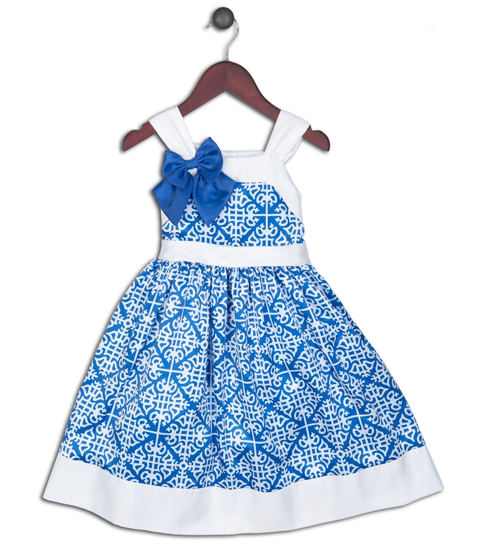 Joe and Ella Fashion Dievčenské šaty Christina - bielo-modré 4d58835f148