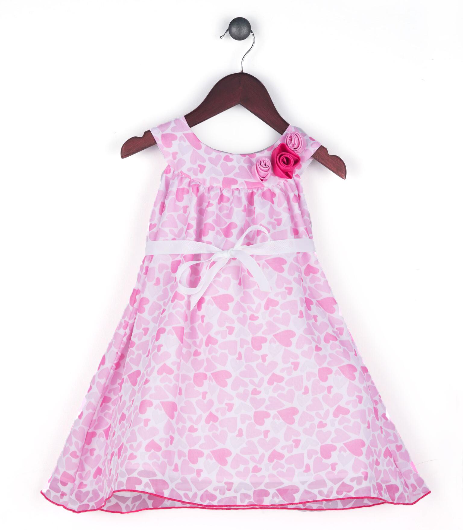 Joe and Ella Fashion Dievčenské šaty Ditto so srdiečkami - ružové ... 0dea3e1a133