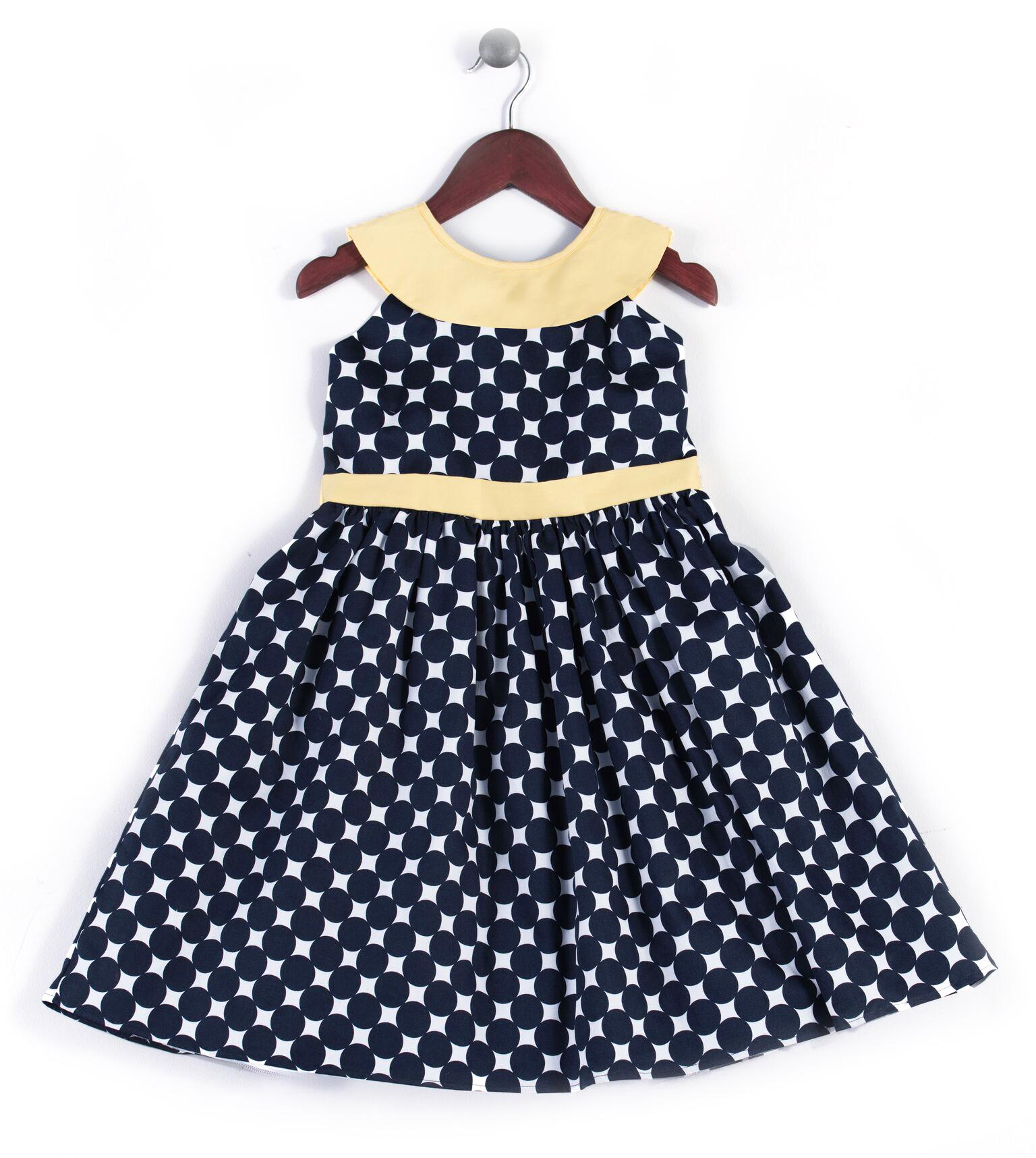 Joe and Ella Fashion Dievčenské šaty Dolly bodkované - čierno-žlté ... 7552bcba56c