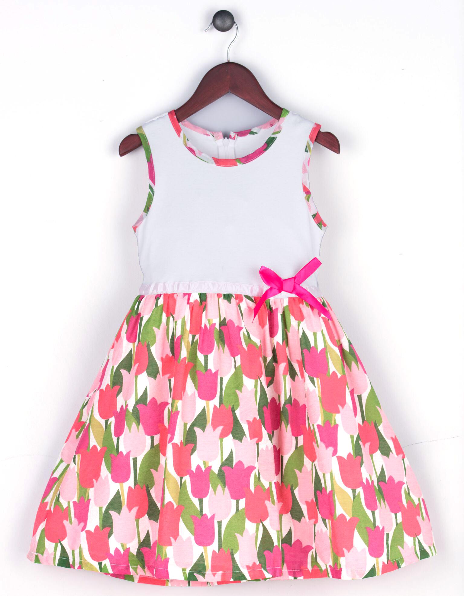 50c7e559e485 Joe and Ella Fashion Dievčenské šaty Lydia - ružovo-biele