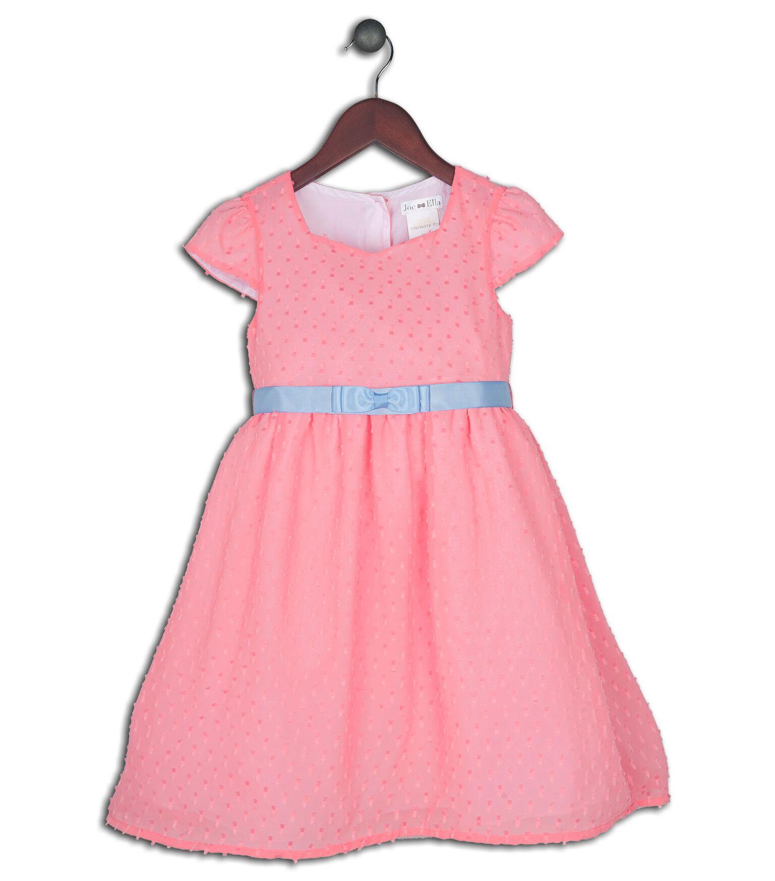 Joe and Ella Fashion Dievčenské šaty Stephanie - ružové 8abde8de93c