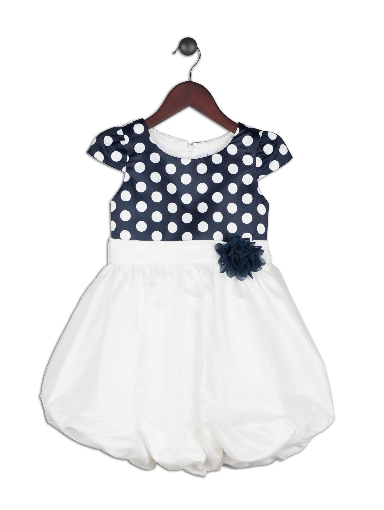 Joe and Ella Fashion Dievčenské šaty Tilly balónové - modro-biele ... 3b0af220c6c