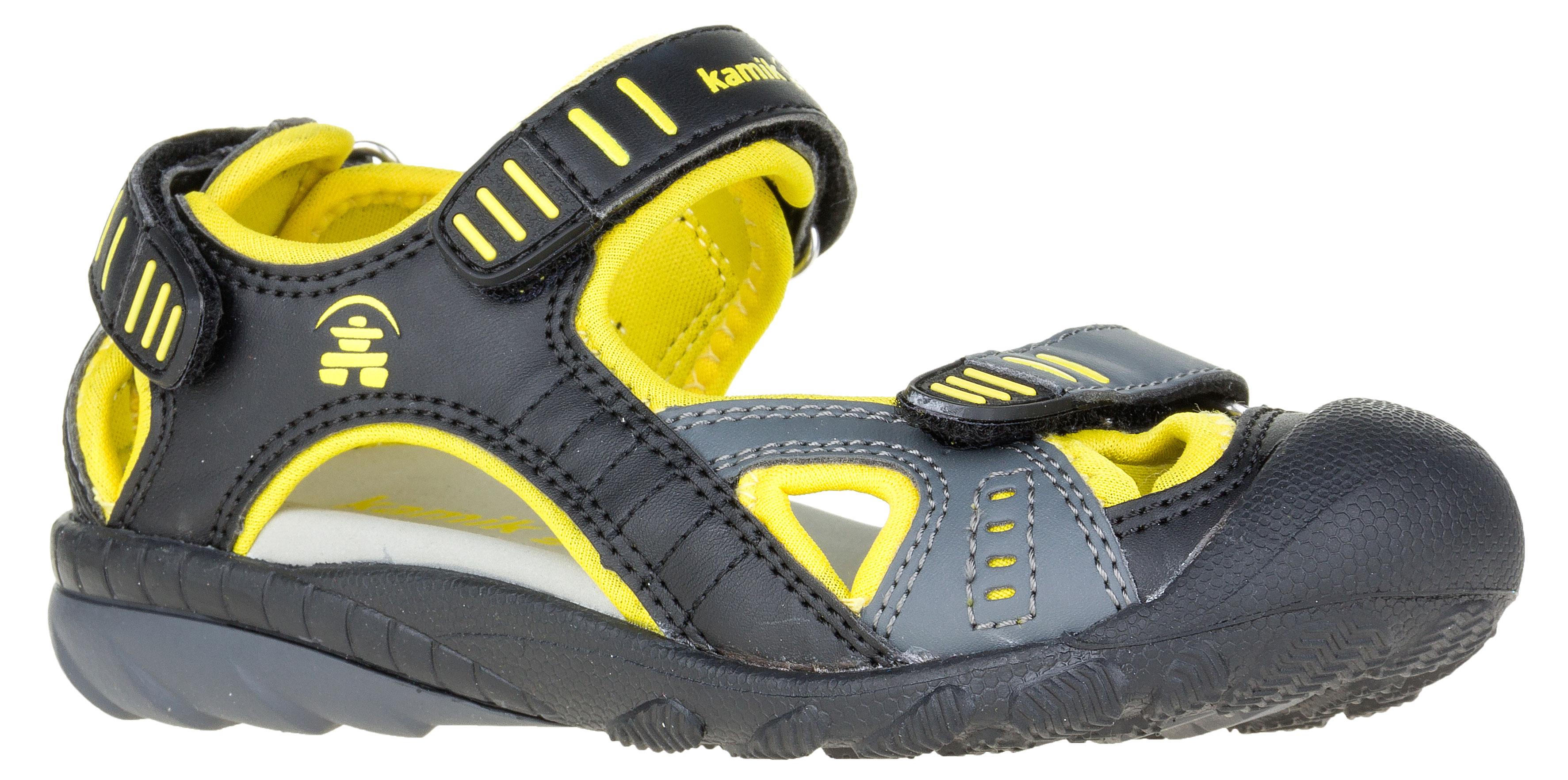 e07c609a20e0 Kamik Detské sandále - žlto-čierne