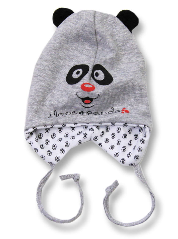 074a6bfa0 Lafel Detská čiapka Panda - šedá, 74 cm   BabyRecenzie.sk