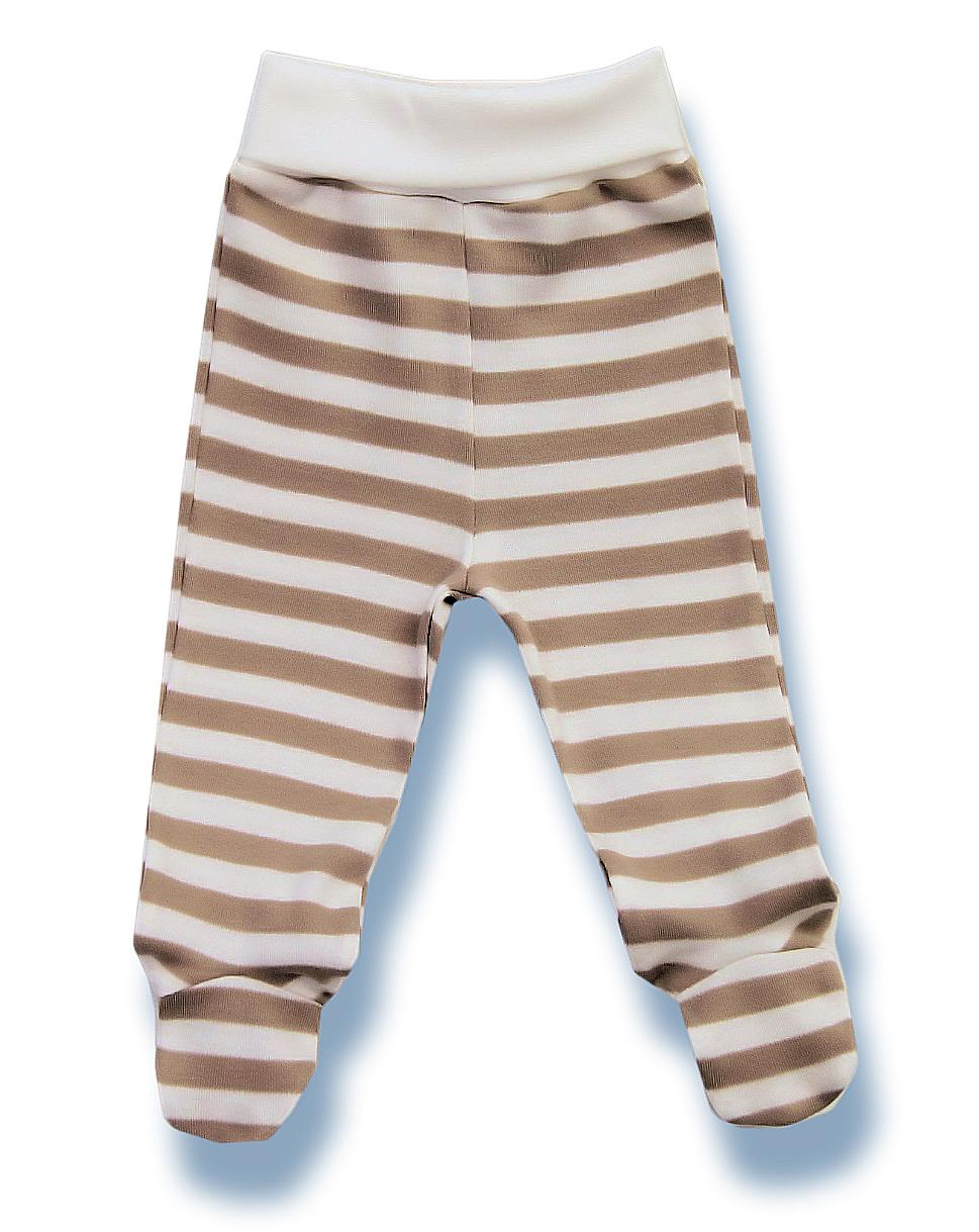 9f74ae88f Lafel Detské pruhované polodupačky Macko - bielo-hnedé, 62 cm ...