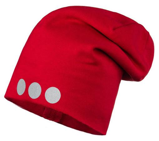 41bcad082 Lamama Detská čiapka s reflexnou potlačou - červená | BabyRecenzie.sk