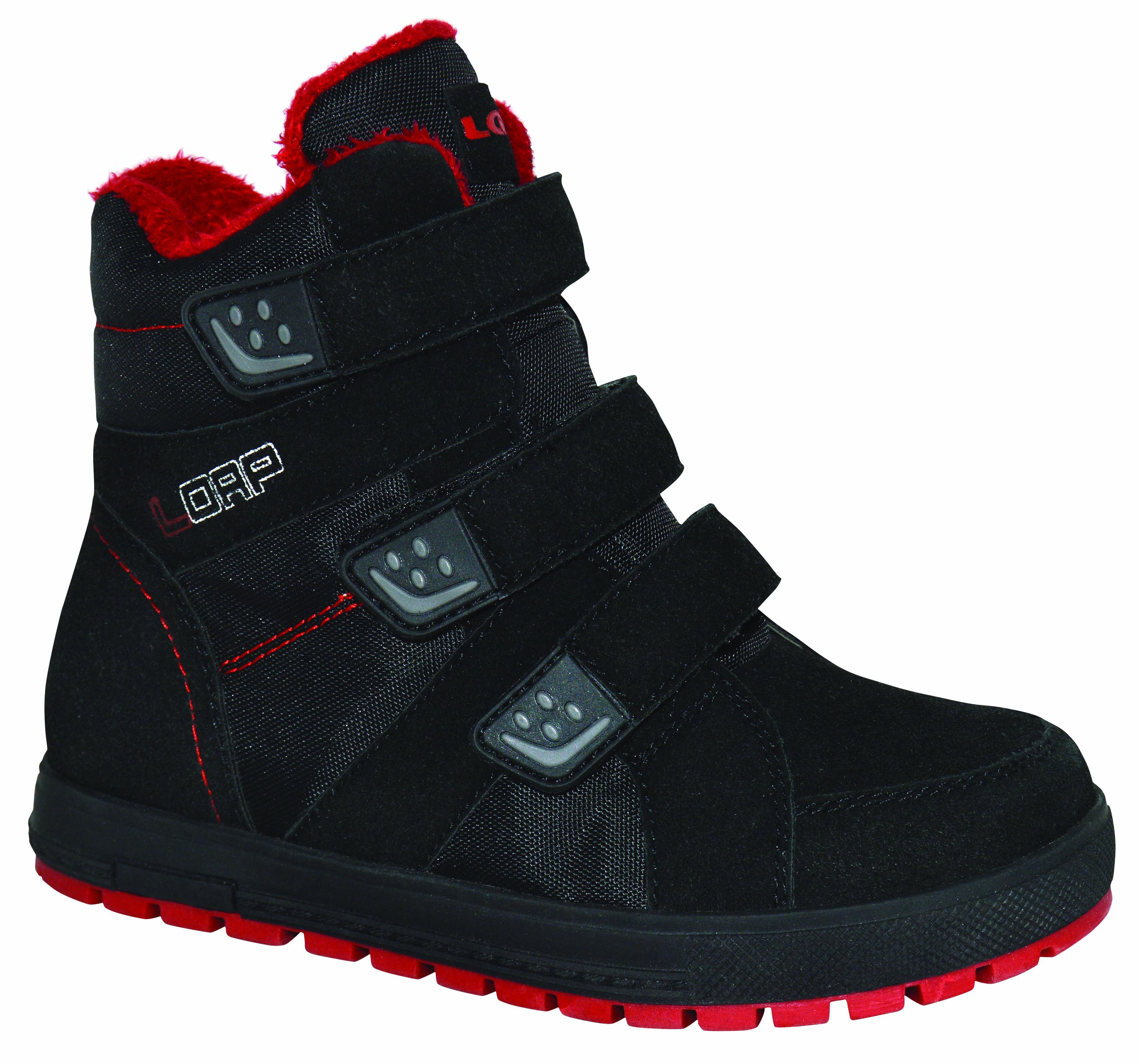 LOAP Detské zimné topánky Manic - červeno-čierne 7f29d1dec05