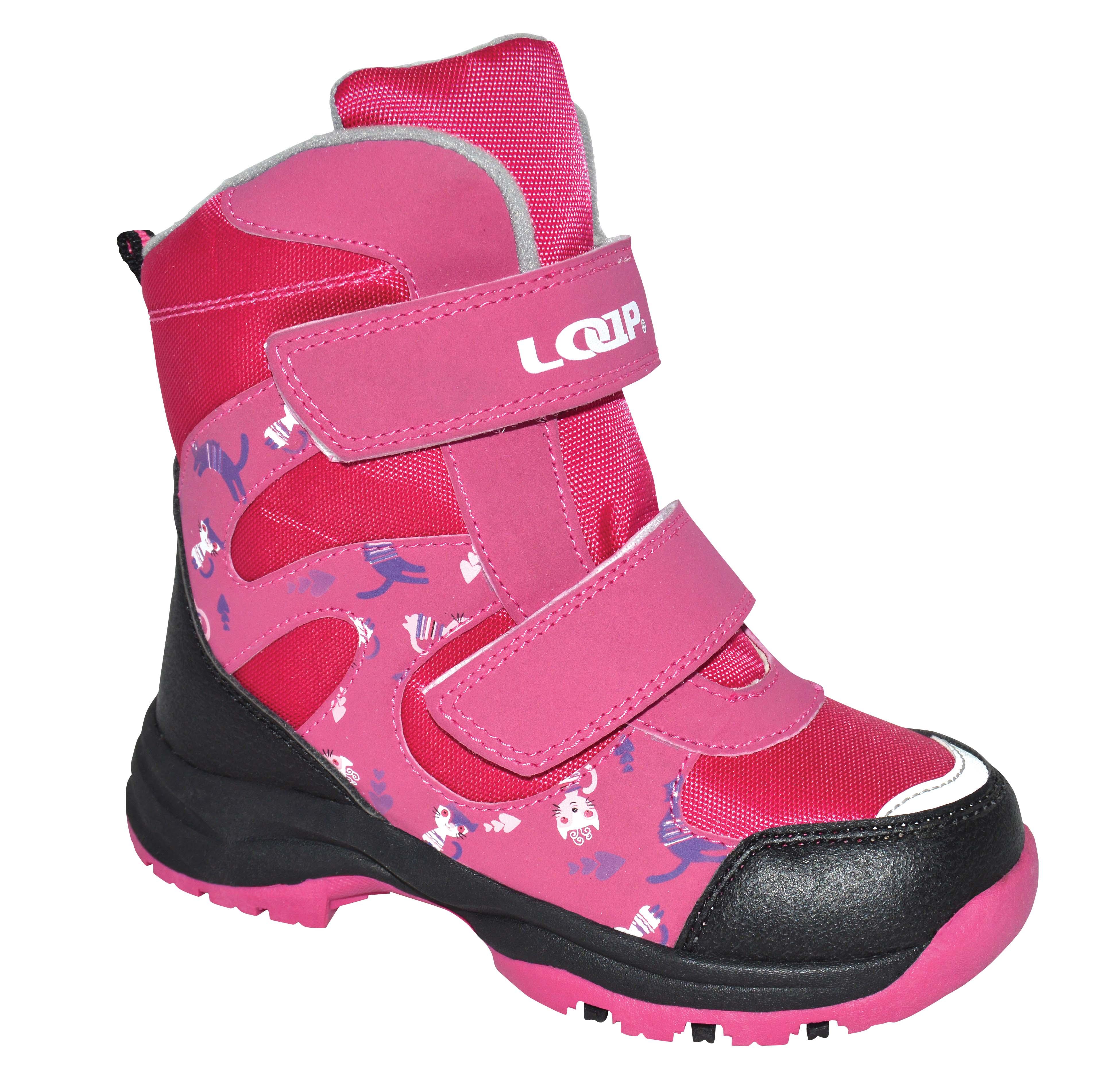 LOAP Dievčenské zimné topánky Chosee - ružové 772664d0191