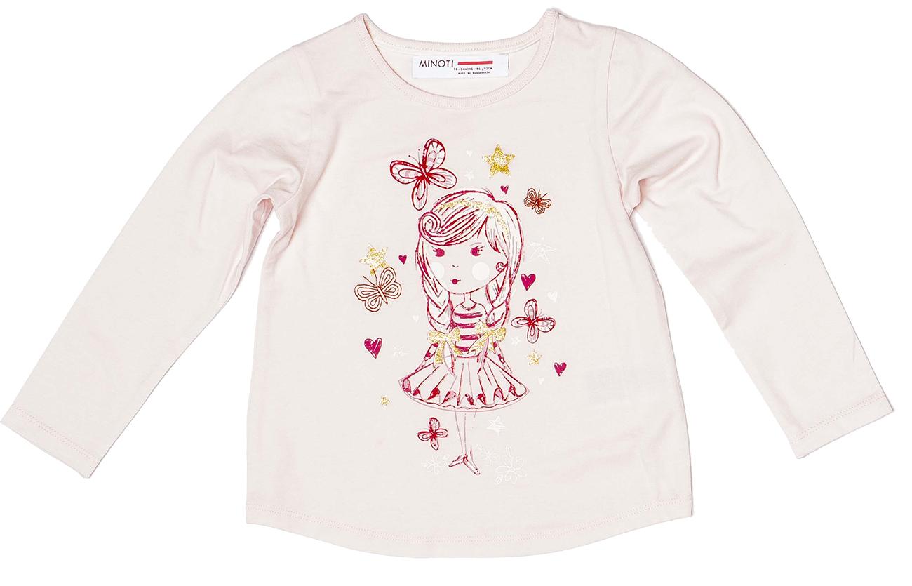 303ab766881d Minoti Dievčenské tričko Berry 1 s baletkou - svetlo ružové