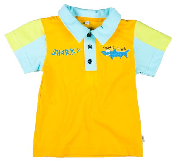cb38bc5960fb9 MMDadak Chlapčenské polo tričko Shark - žlté, 74 cm   BabyRecenzie.sk
