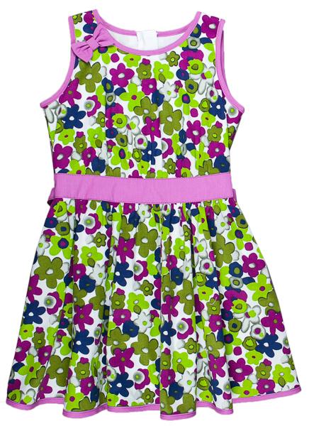 231f39b913e5 MMDadak Dievčenské kvetované šaty s mašľou Rita - farebné
