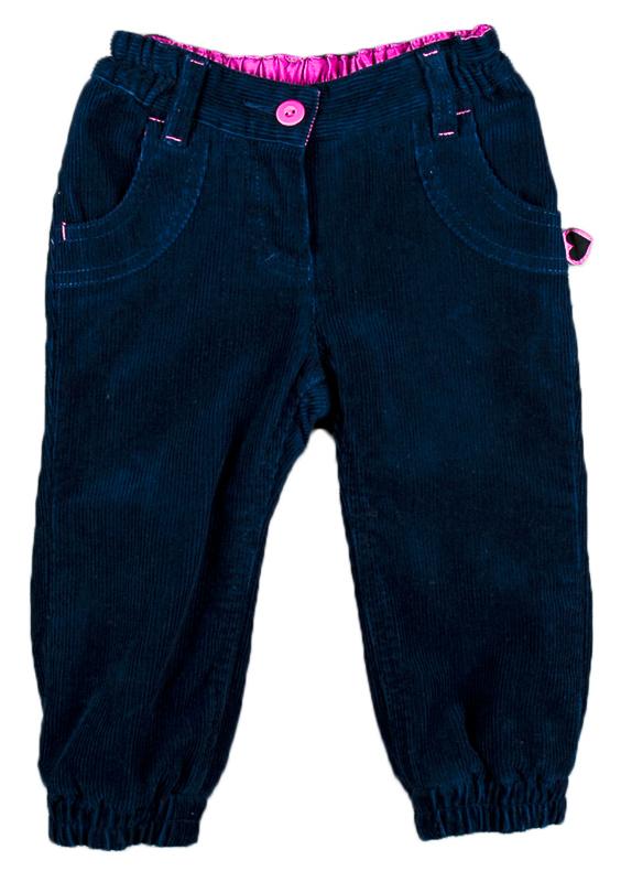 54bc00e54d33 MMDadak Dievčenské manšestrové nohavice - tmavo modré