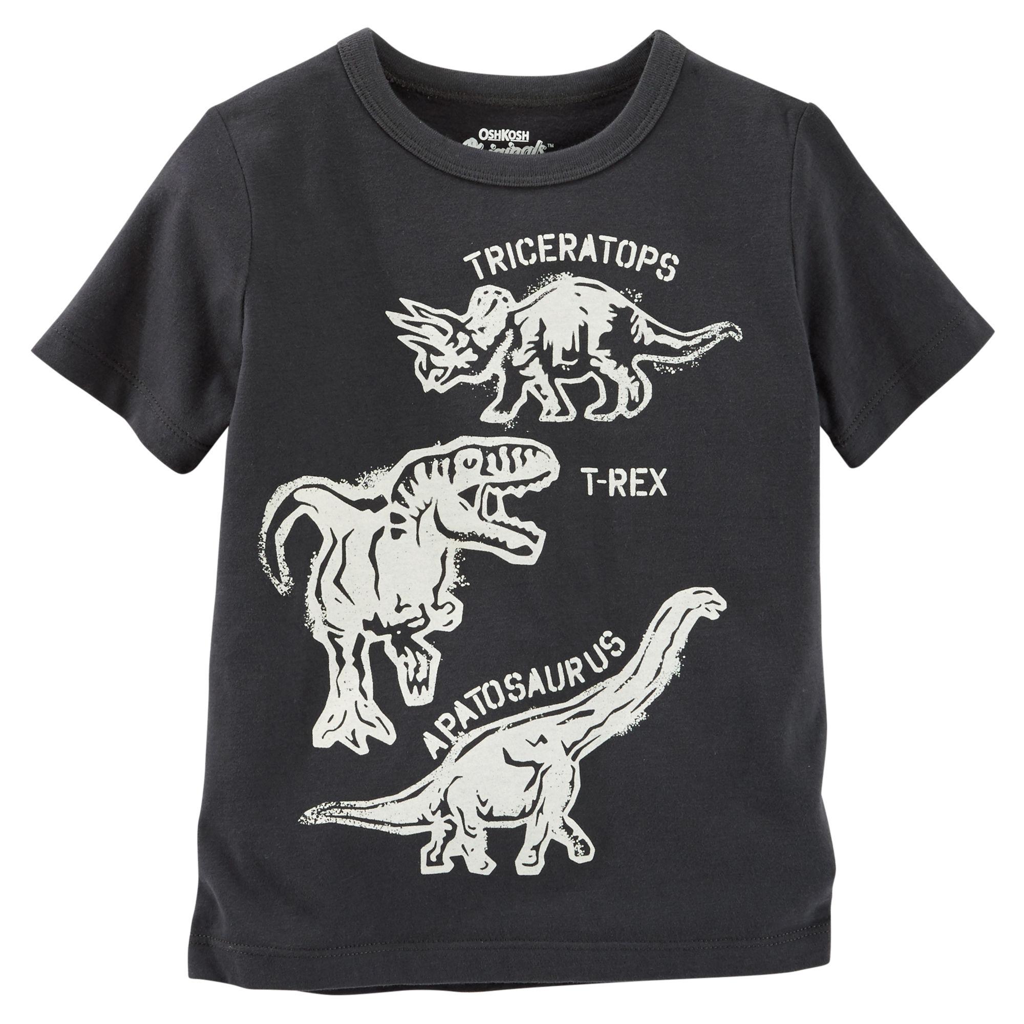 d98295a08509 Oshkosh Chlapčenské tričko s dinosaurmi- čierne