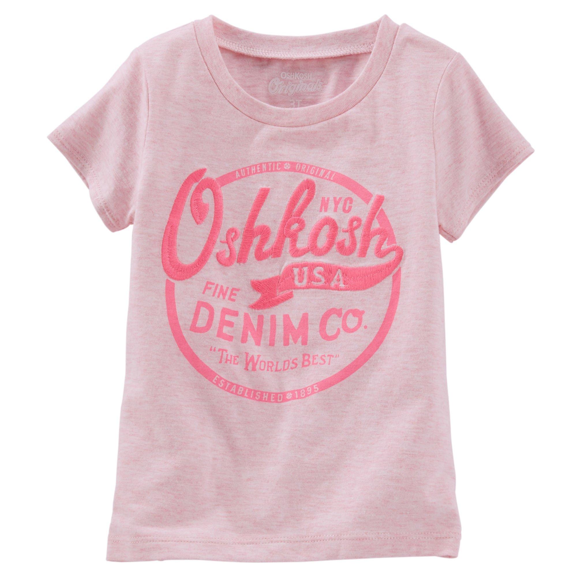 8e5ba23f14cc Oshkosh Dievčenské tričko s nápisom - ružové