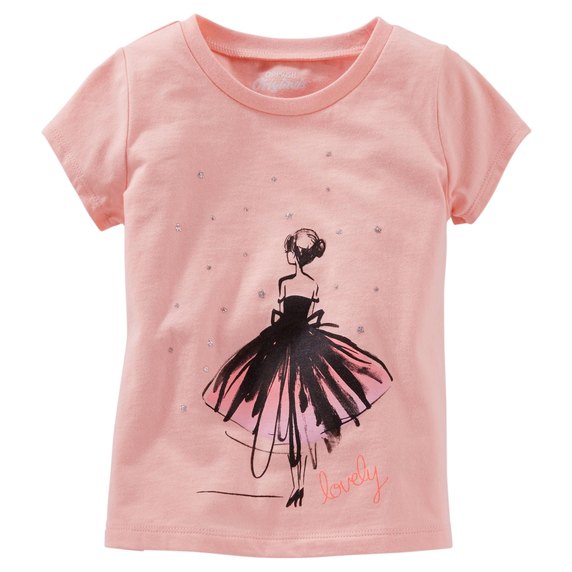 7e197c8732e6 Oshkosh Dievčenské tričko s tanečnicou - ružové