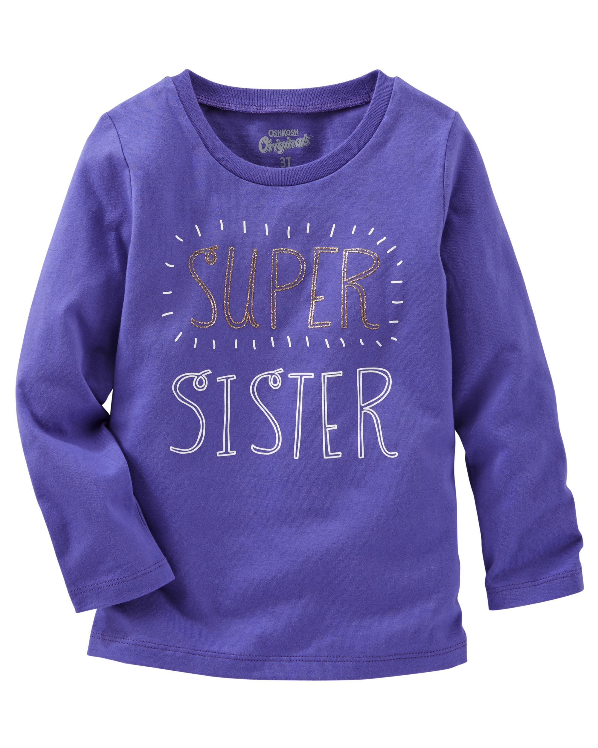 d28dcedc56c6 Oshkosh Dievčenské tričko Super sister - fialové