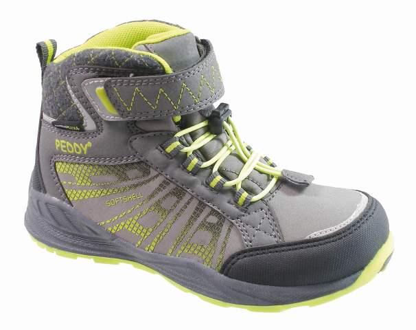 fbbcc44c9be29 Peddy Chlapčenské členkové outdoorové topánky - zeleno-šedé, EUR 31 ...