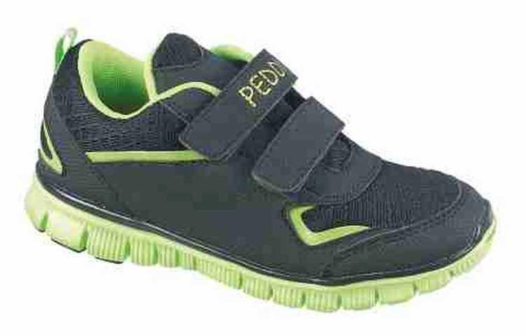 Peddy Chlapčenské športové tenisky - zeleno-čierne 132dbe07a20