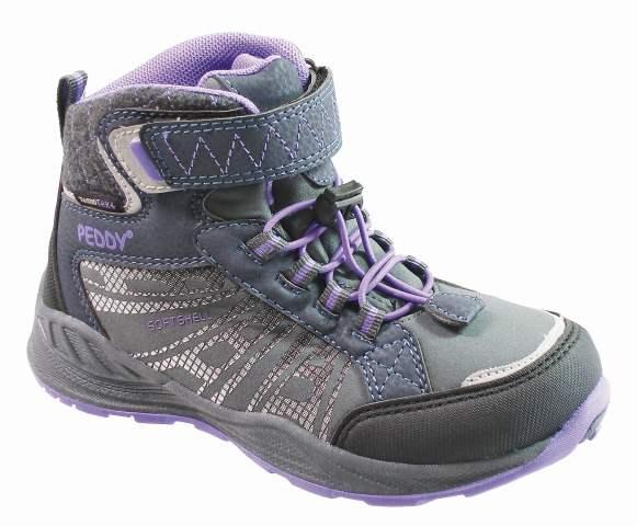 e31f0aac771bb Peddy Dievčenské členkové outdoorové topánky - fialovo-šedé, EUR 35 ...