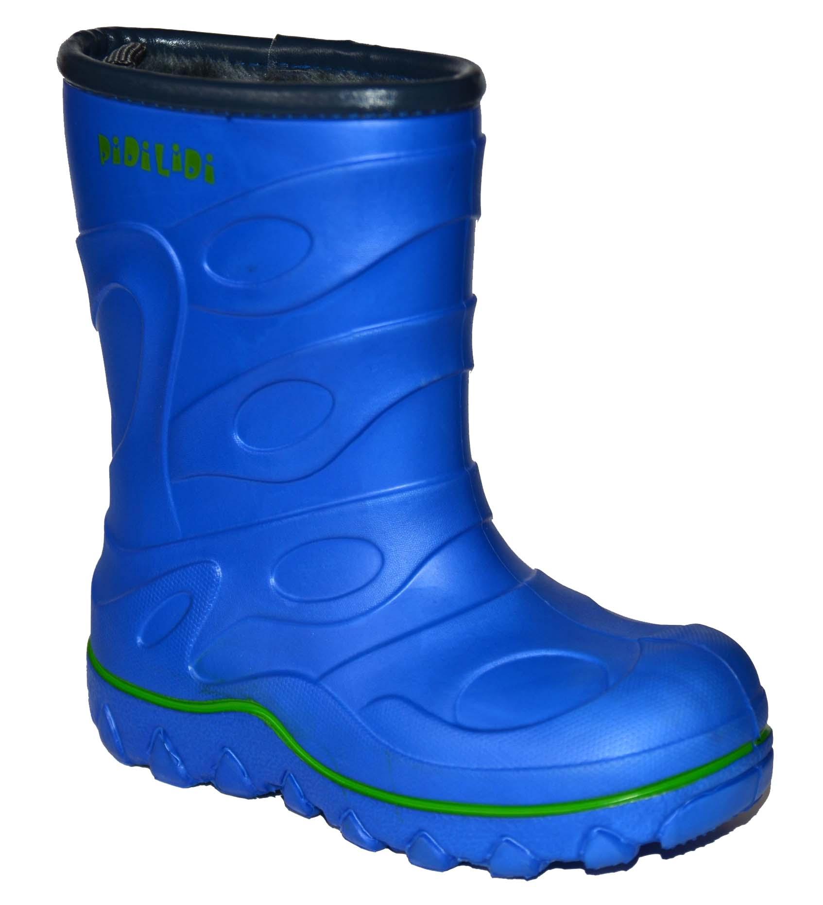 PIDILIDI Chlapčenské zateplené gumáky - modré 1c38ed9a071