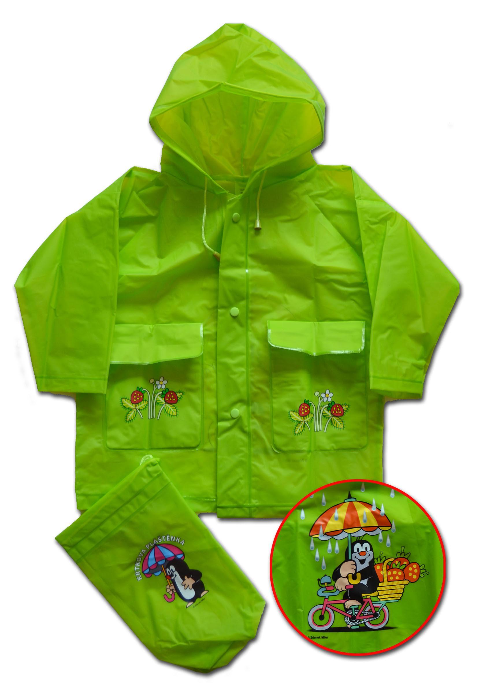 PIDILIDI Detská pláštenka Krtko - zelená  3c08796cff3