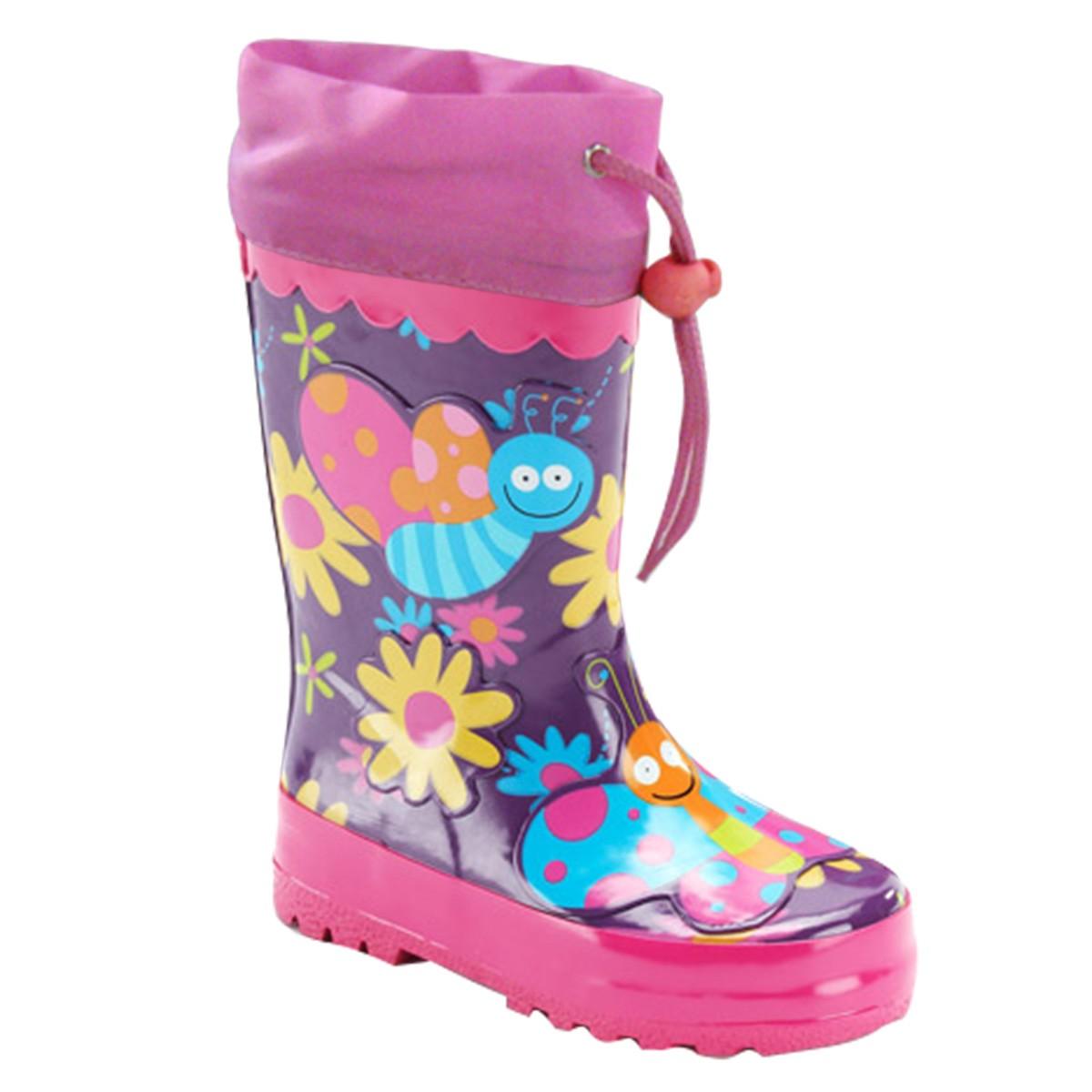 f489d2a853 PIDILIDI Dievčenské čižmy s motýliky - fialové