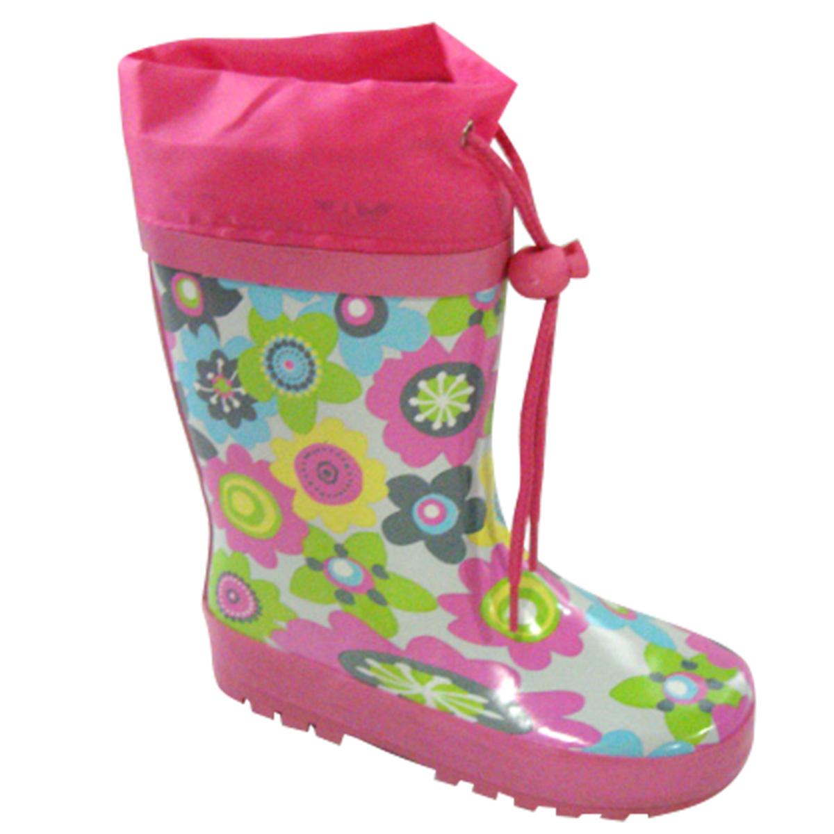 c5dd689be1 PIDILIDI Dievčenské kvetované čižmy - farebné