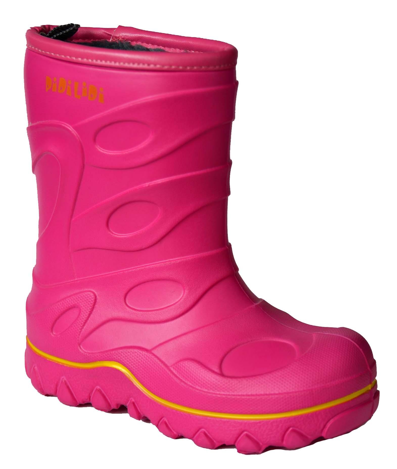 PIDILIDI Dievčenské zateplené gumáky- ružové f5aa826b6d5