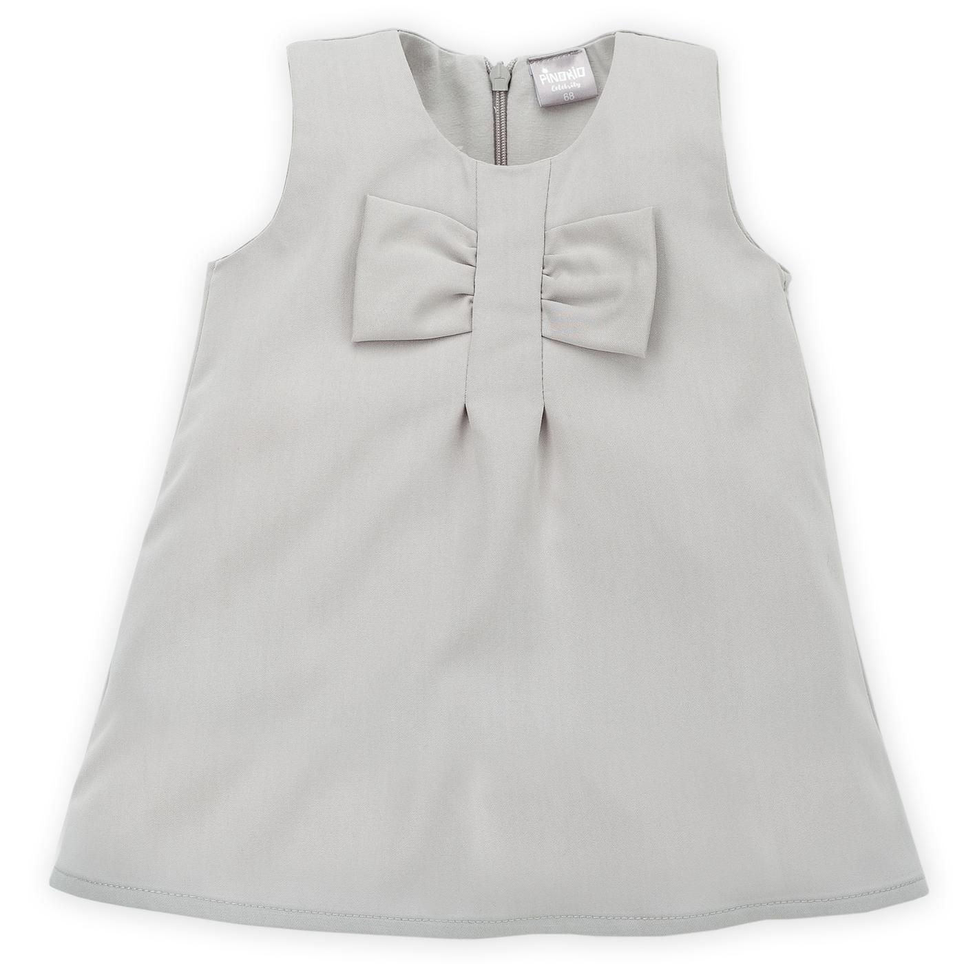 3ad948fb6beb Pinokio Dievčenské šaty s mašľou - sivé