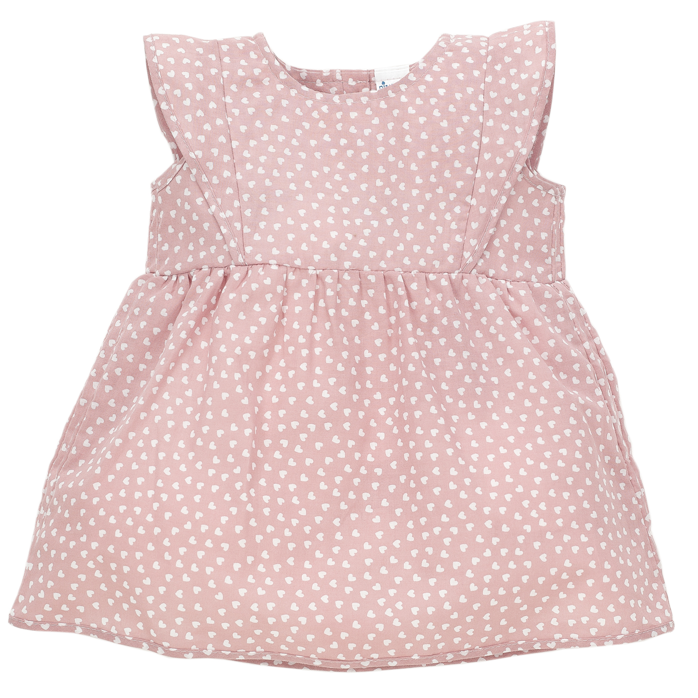 Pinokio Dievčenské šaty so srdiečkami - svetlo ružové 2a4e7581616