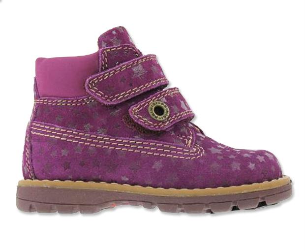 Primigi Dievčenské členkové topánky s hviezdičkami - fialové 6a9cf07e077