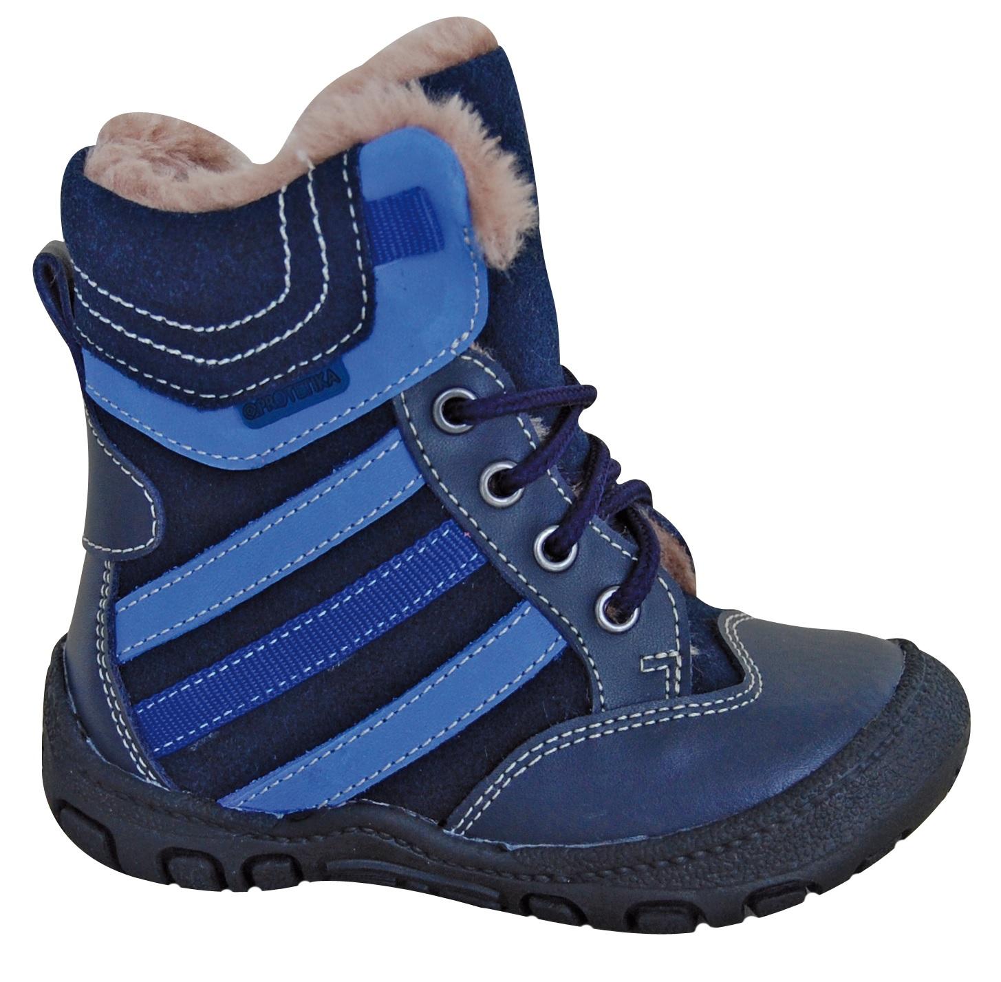 d0b4ed7592 Protetika Chlapčenské zimné topánky Alex - modré
