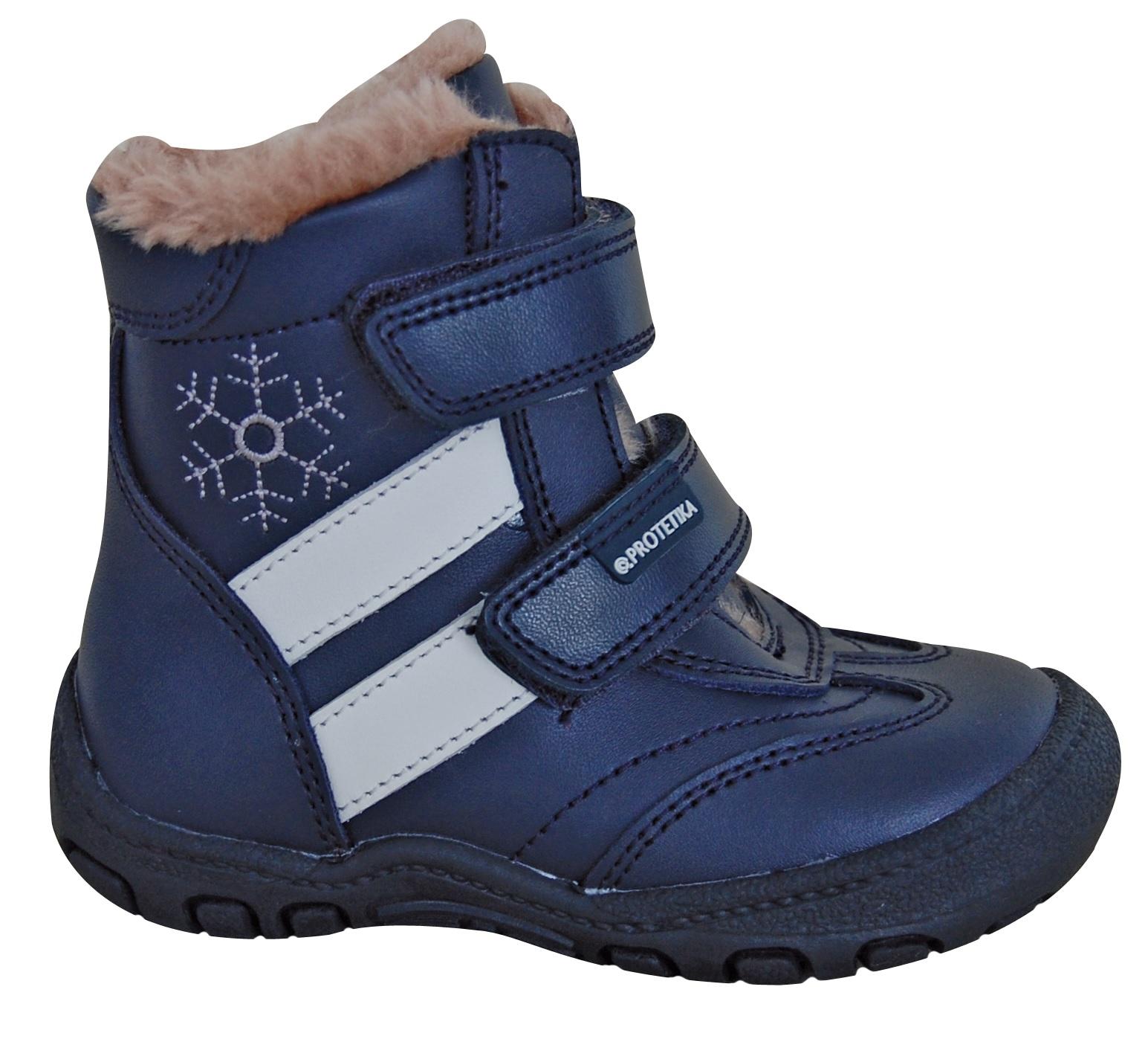 da6fd83dd2 Protetika Chlapčenské zimné topánky Berger - modré