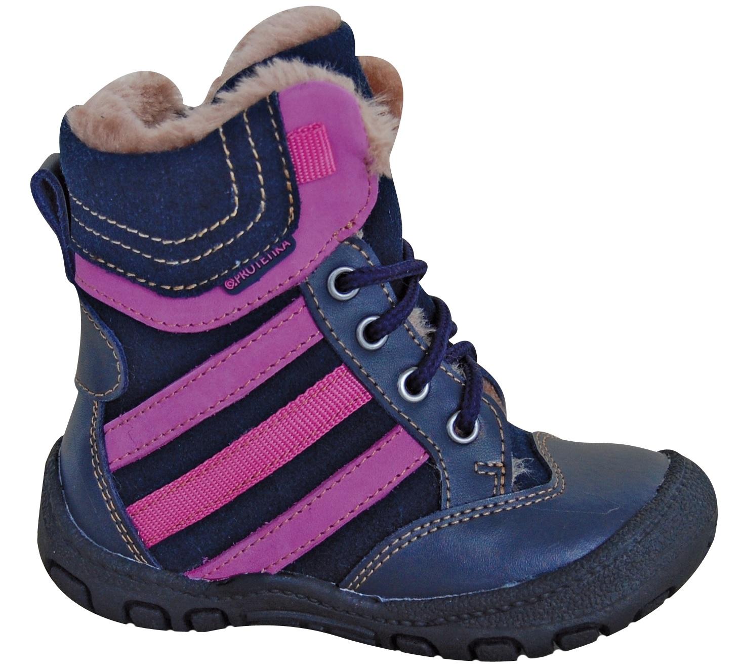 bc44f75375 Protetika Dievčenské zimné topánky Alex - tmavo modré