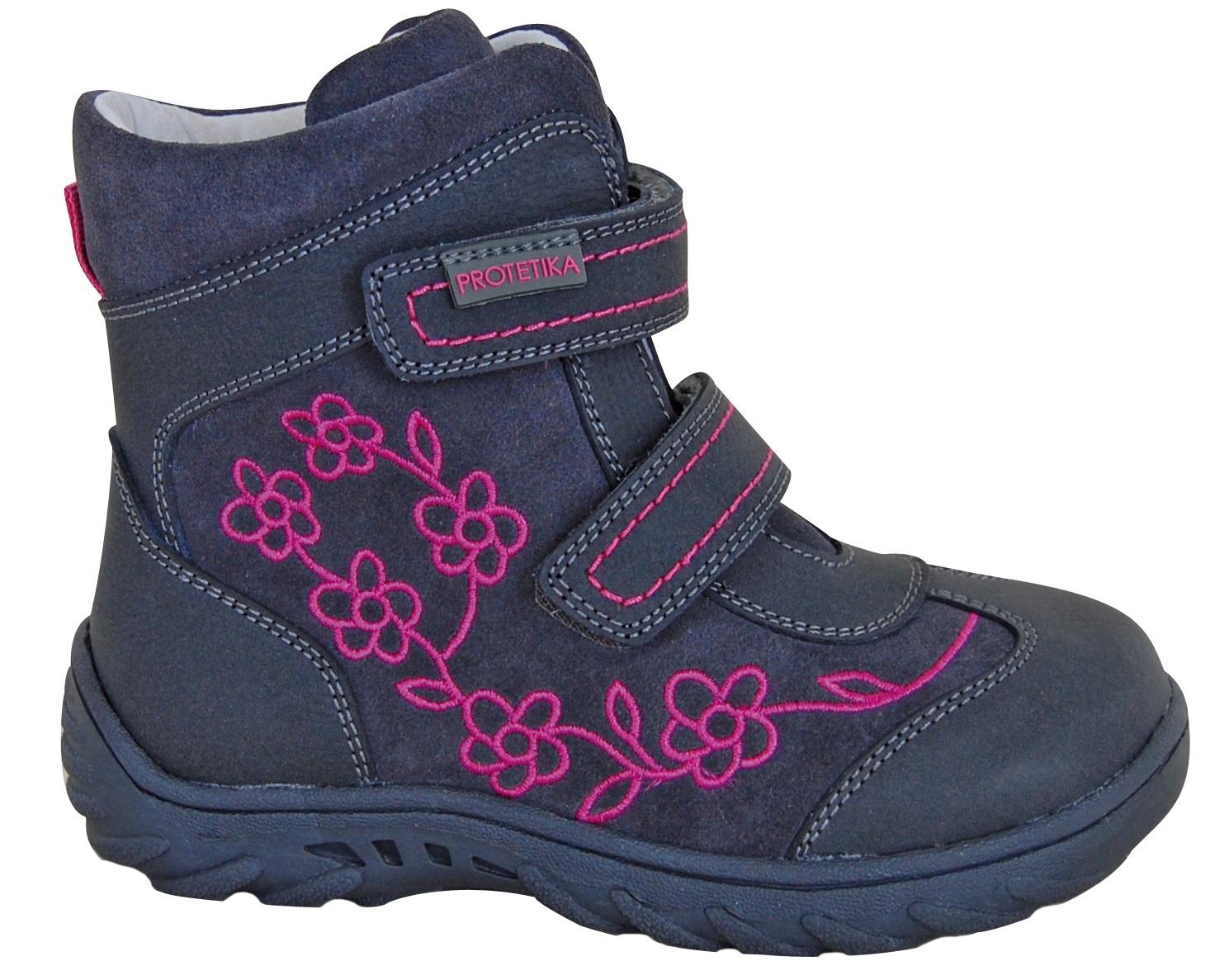 Protetika Dievčenské zimné topánky Miri - modro-šedé 212b157782d