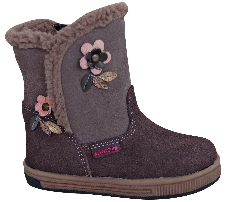 Protetika Dievčenské zimné topánky Simona - šedé 2a0c7f1764c