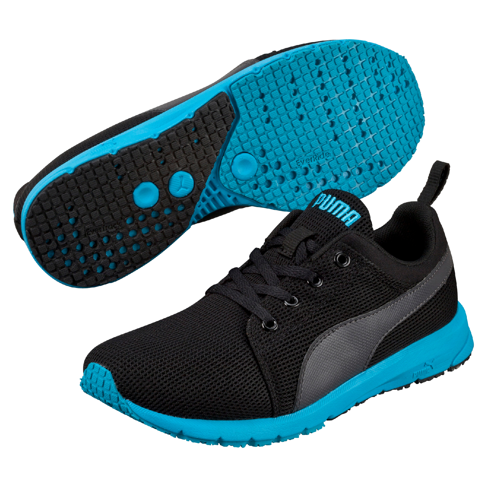 Puma Chlapčenské bežecké tenisky Carson Runner JR - modro-čierne ... 0a2838dd89f