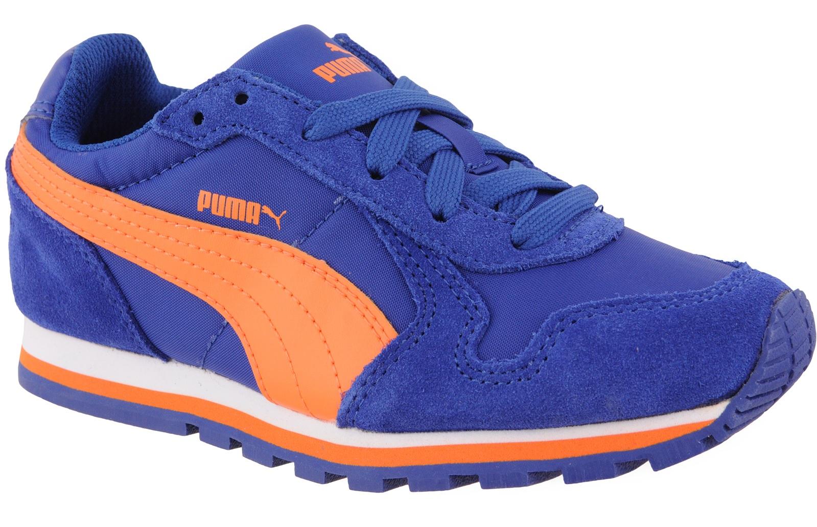 e07c5ad42 Puma Chlapčenské bežecké tenisky ST Runner NL - oranžovo-modré, EUR ...