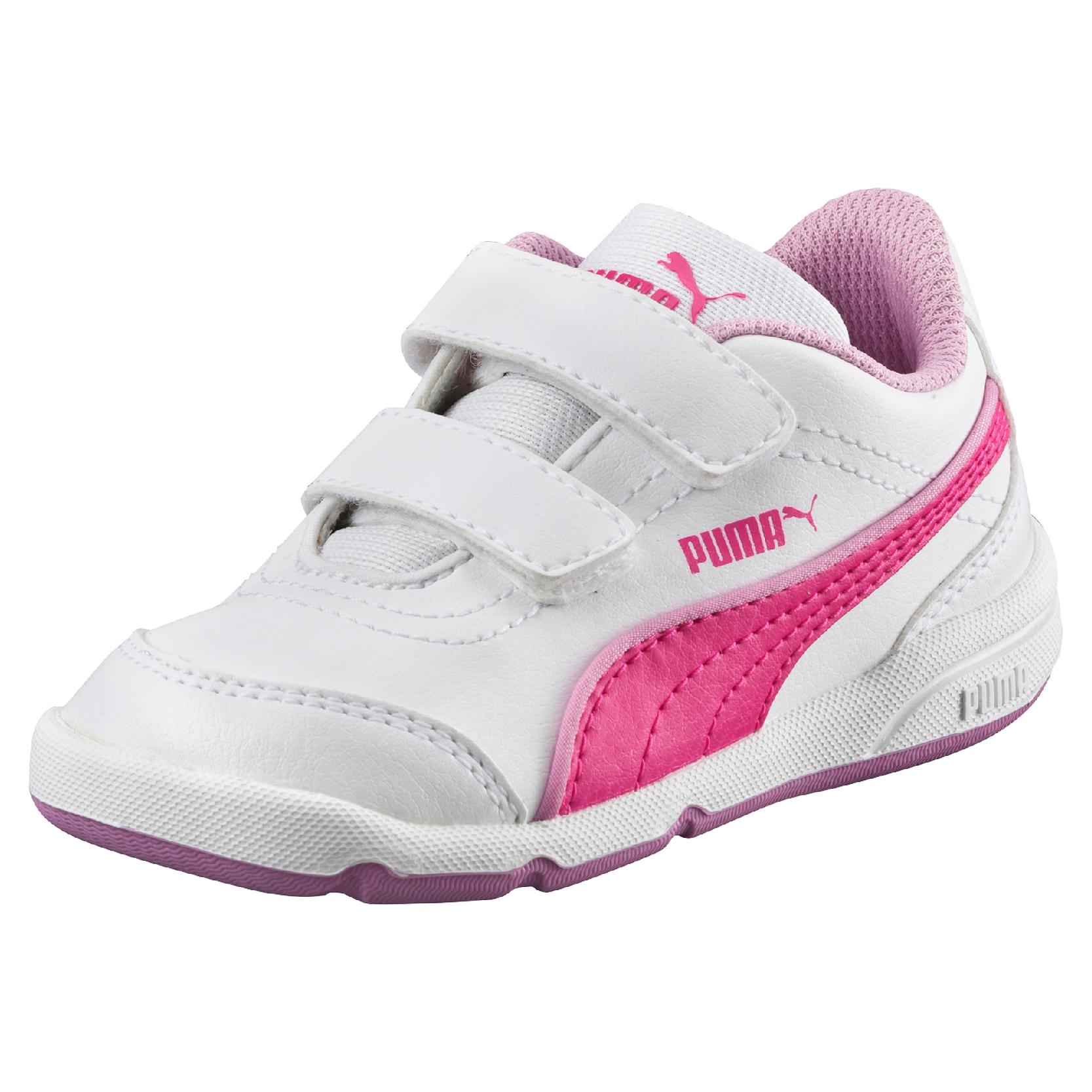Puma Dievčenské tenisky Stepfleex FS SL V Inf White-Pink Gl ce26e5614b0