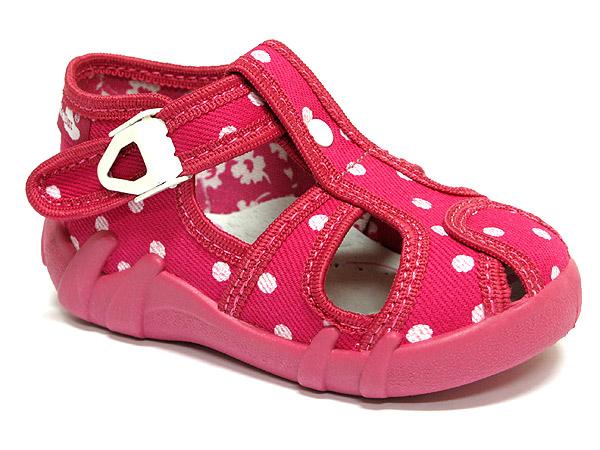 be01c6c62 Ren But Dievčenské bodkované papučky - ružové, EUR 27 | BabyRecenzie.sk