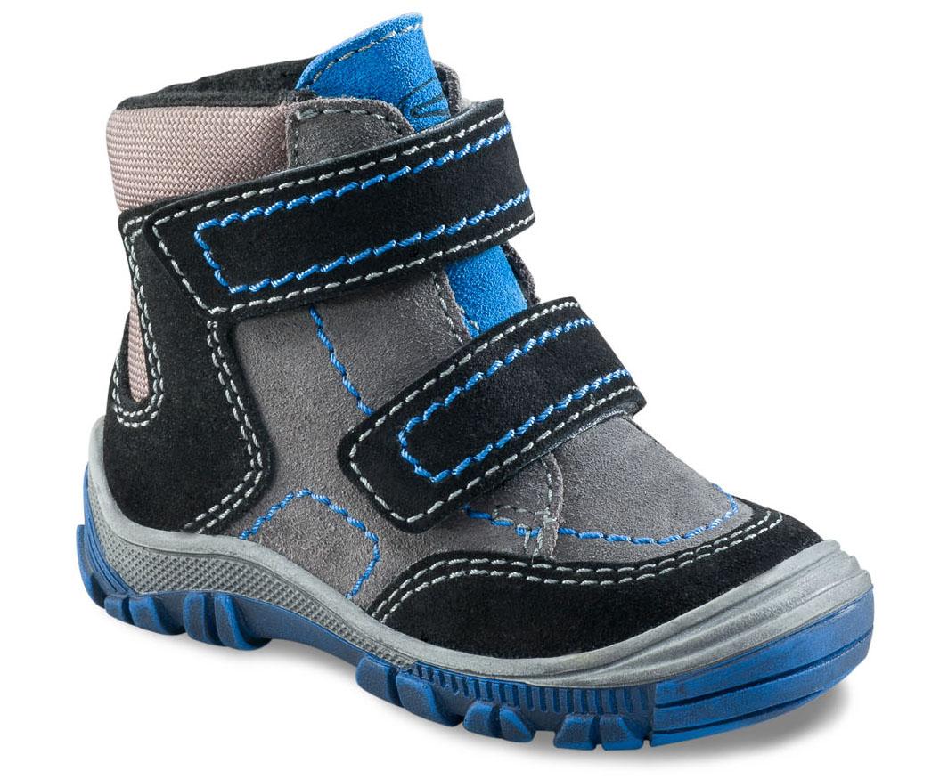 Richter Chlapčenské zimné členkové topánky - šedo-čierne e4219d706b3