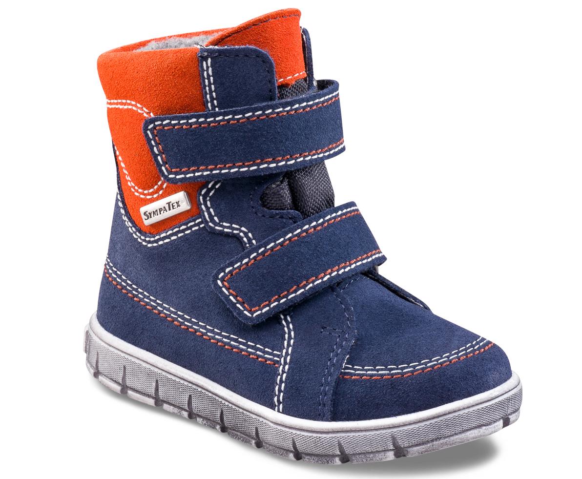 Richter Chlapčenské zimné topánky - oranžovo-modré 653b3692e5f