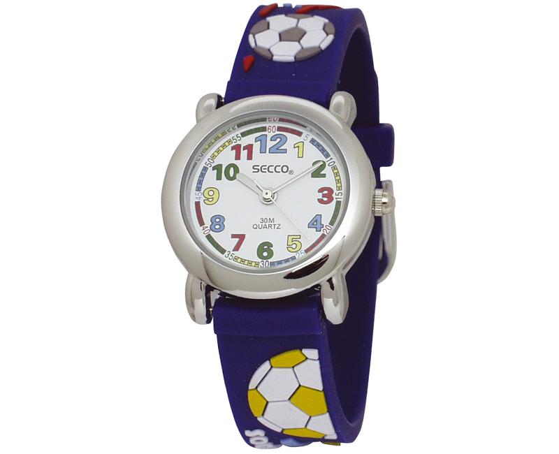 Secco Chlapčenské hodinky s loptou - tmavo modré  110055d455c