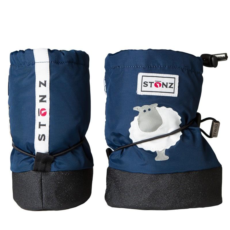 Stonz Detské nepremokavé topánočky   návleky   snehule s ovečkou - modré a8cc28dffb