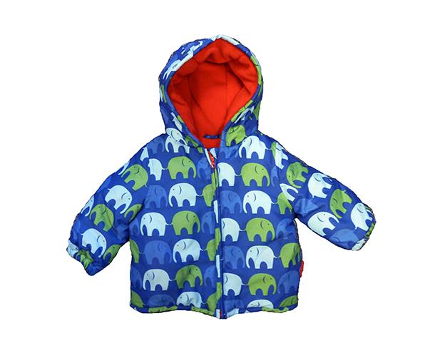 Toby Tiger Modrá zimná bunda so sloníkmi e1616e07197