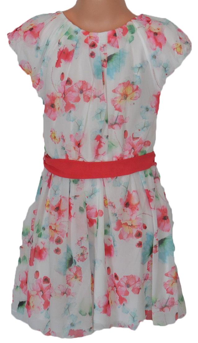 099842b23527 Topo Dievčenské kvetované šaty - bieloružové