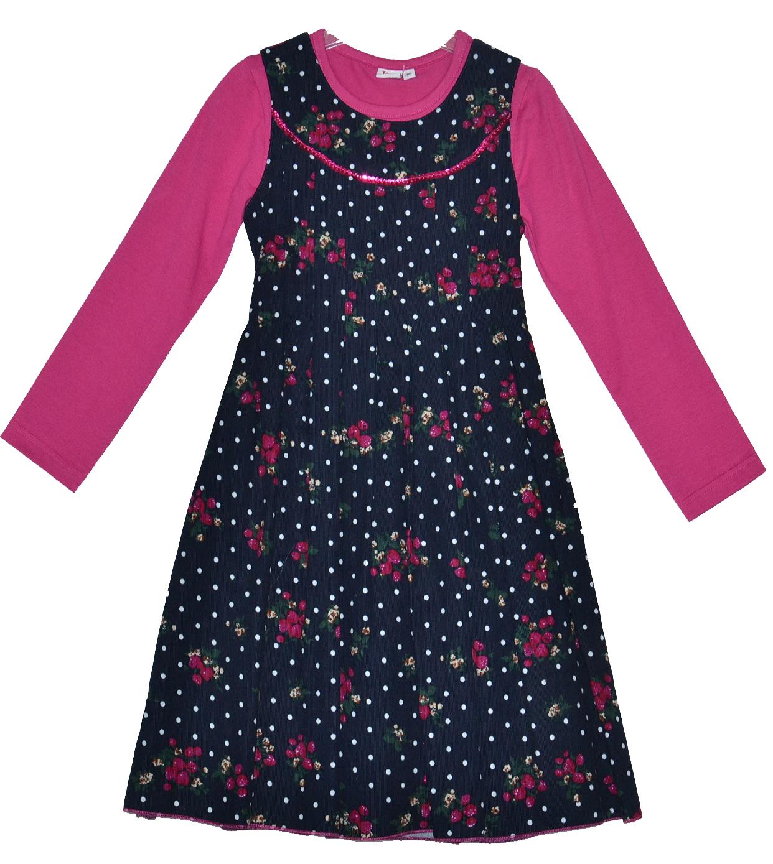67eae53371bf Topo Dievčenské kvetované šaty s tričkom - farebné